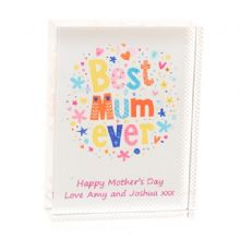 Best Mum Ever Crystal - Personalised Mother's Day or Birthday Gift